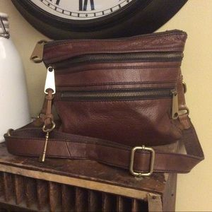 Fossil brown Crossbody purse